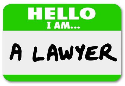 Lawyer Hello Name Tag Attorney Lawsuit Justice
