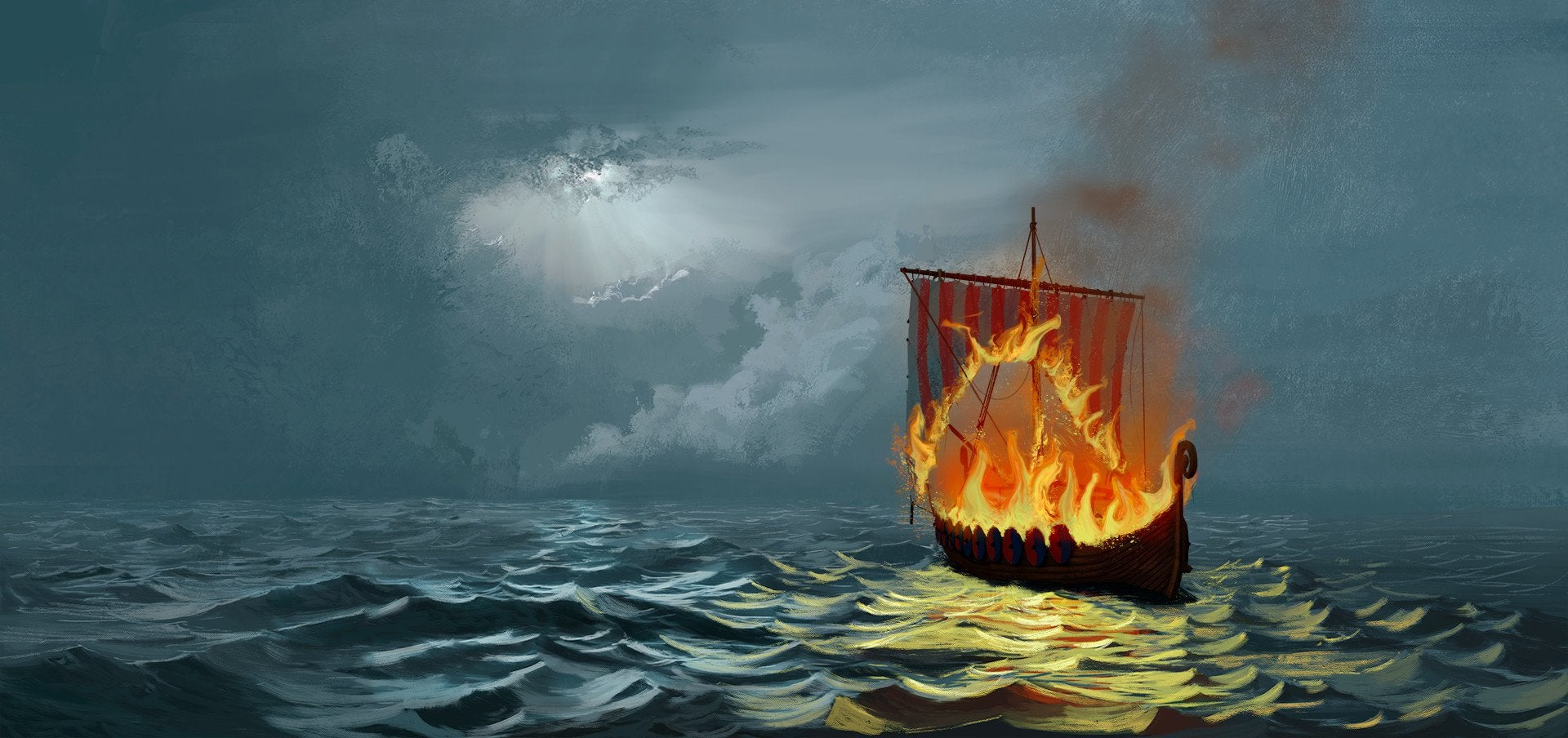 viking funeral ship 2